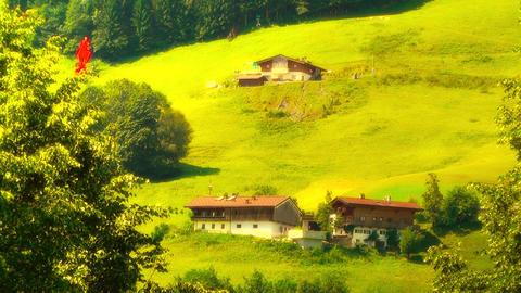 European Alps Austria 33 Hahnenkamm stylized Stock Video Footage