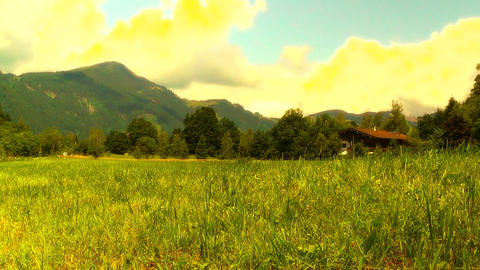 European Alps Austria 34 stylized Stock Video Footage