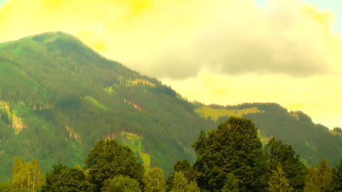 European Alps Austria 36 stylized Stock Video Footage