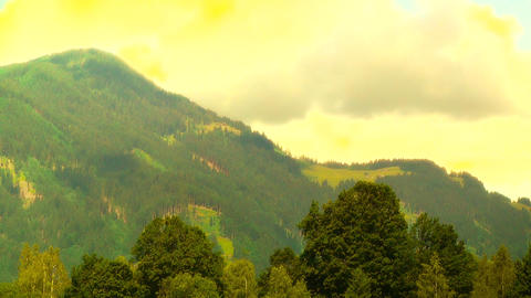 European Alps Austria 36 stylized Stock Video Footage