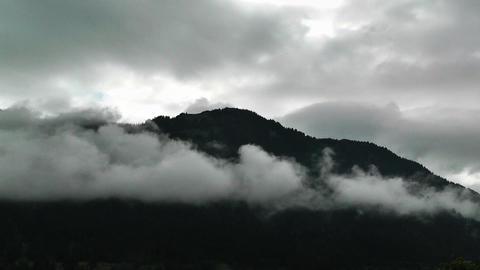European Alps Austria Clouds Timelapse 01 Stock Video Footage