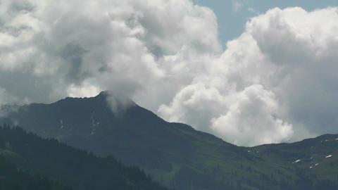 European Alps Austria Clouds Timelapse 03 Stock Video Footage