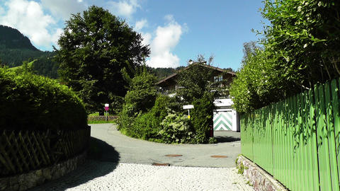 European Alps Town in Austria 02 Stock Video Footage