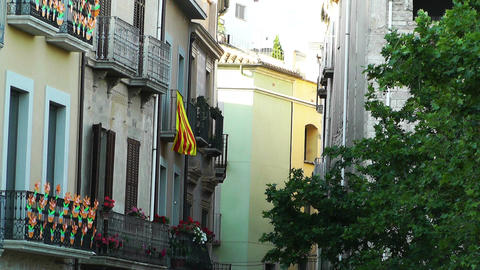 Facade in Catalonia Spain 04 Stock Video Footage