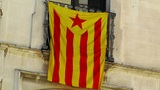 Facade in Catalonia with Catalan Flag in Spain 02 Footage