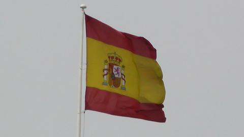 Flag of Spain Footage