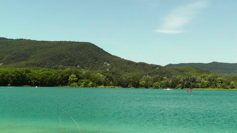 Lake Banyoles in Spain Catalonia 02 Stock Video Footage