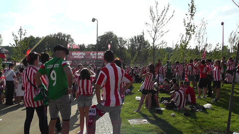 Madrid before Copa del Rey Final 2012 Athletic Bilbao... Stock Video Footage