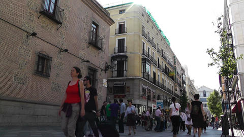 Madrid Calle De Arenal 02 Stock Video Footage