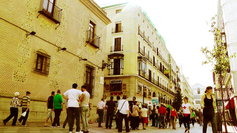 Madrid Calle De Arenal 04 stylized Stock Video Footage