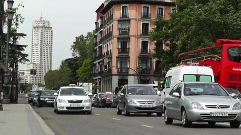 Madrid Calle De Bailen 02 Stock Video Footage