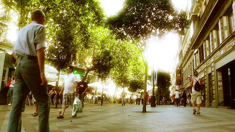 Madrid Calle De La Montera 02 stylized Footage