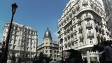 Madrid Calle De La Montera and Gran Via crossing 02 Footage