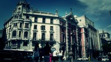 Madrid Calle De Alcala and Gran Via crossing 04 stylized Footage