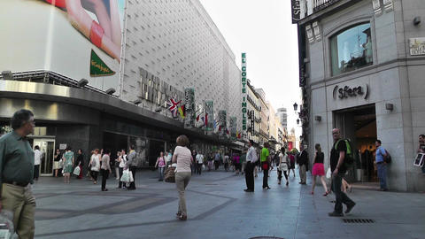 Madrid Spain Calle De Preciados 01 Footage
