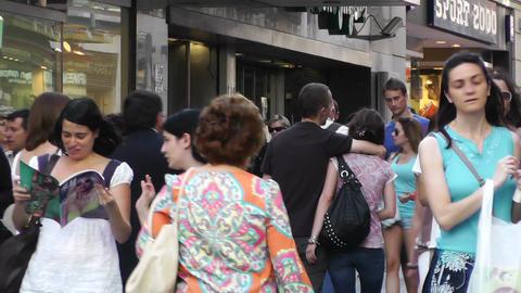 Madrid Spain Calle De Preciados 03 Stock Video Footage