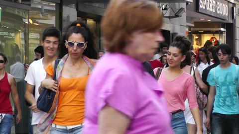 Madrid Spain Calle De Preciados 03 Footage