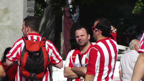 Madrid Casa De Campo before Copa del Rey Final 2012... Stock Video Footage