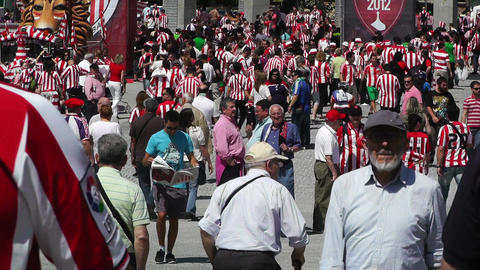 Madrid Casa De Campo before Copa del Rey Final 2012 Athletic Bilbao Fans 09 Footage