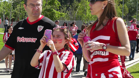 Madrid Casa De Campo before Copa del Rey Final 2012 Athletic Bilbao Fans 11 Footage
