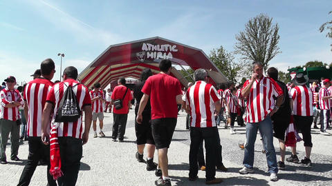 Madrid Casa De Campo before Copa del Rey Final 2012 Athletic Bilbao Fans 13 Footage