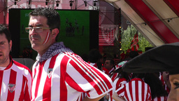 Madrid Casa De Campo before Copa del Rey Final 2012 Athletic Bilbao Fans 15 Footage