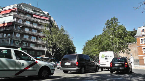 Madrid Cuesta de San Vicente 01 traffic Stock Video Footage