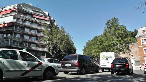 Madrid Cuesta de San Vicente 01 traffic Stock Video Footage