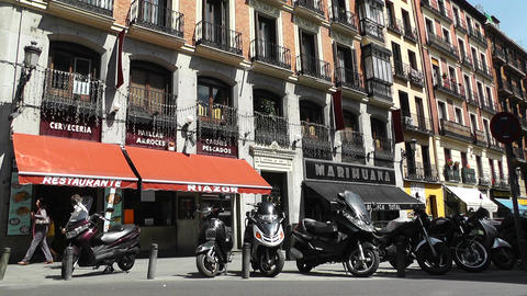 Madrid Downtown 04 Stock Video Footage