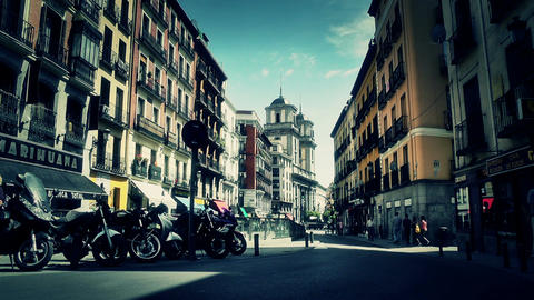 Madrid Downtown 06 stylized Stock Video Footage