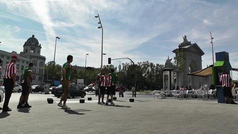 Madrid Glorieta De San Vicente 01 Stock Video Footage