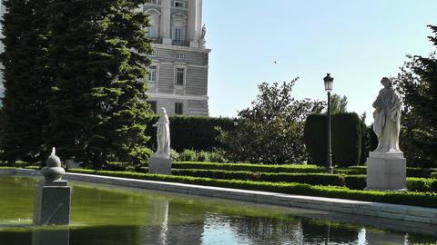Madrid Jardines De Sabatini 02 Stock Video Footage