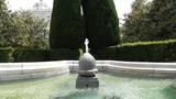 Madrid Jardines De Sabatini 04 fountain Footage