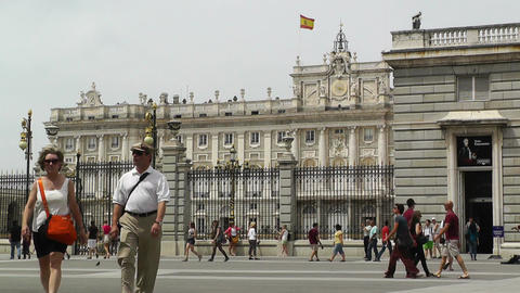 Madrid Palazzo Reale 02 Stock Video Footage