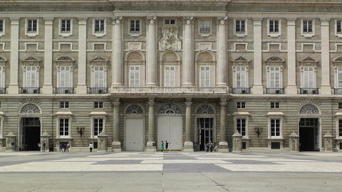 Madrid Palazzo Reale 04 Stock Video Footage