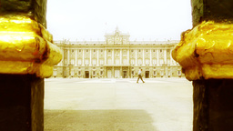 Madrid Palazzo Reale 06 stylized Stock Video Footage