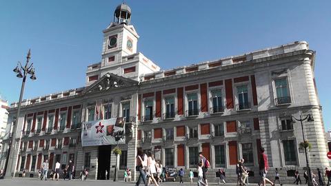 Madrid Plaza De La Puerta Del Sol 01 Stock Video Footage