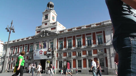 Madrid Plaza De La Puerta Del Sol 01 Stock Video Footage