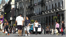 Madrid Plaza De La Puerta Del Sol 03 Stock Video Footage