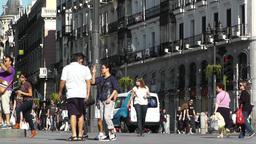 Madrid Plaza De La Puerta Del Sol 03 Stock Video Footage