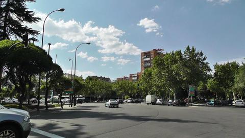 Madrid Plaza De Lima 02 Stock Video Footage