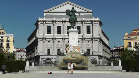 Madrid Plaza De Oriente 02 Footage