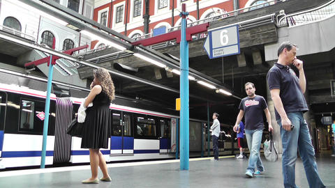 Madrid Principe Pio Metro Station 01 Stock Video Footage