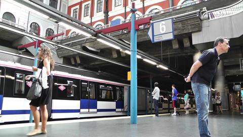 Madrid Principe Pio Metro Station 01 Stock Video Footage