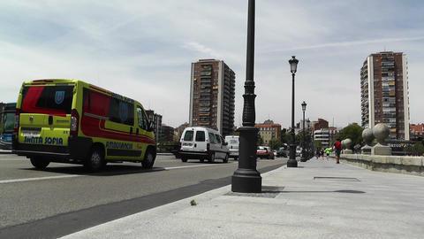 Madrid Puente De Segovia 01 Stock Video Footage