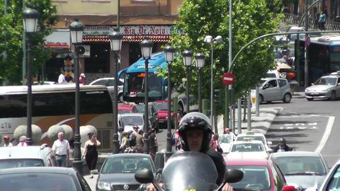 Madrid Puente De Segovia 04 heat mirage Footage
