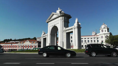 Madrid Puerta De San Vicente 01 Stock Video Footage