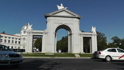 Madrid Puerta De San Vicente 03 zoom out Stock Video Footage