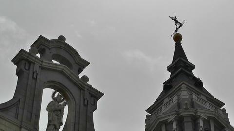 Madrid Santa Maria Almudena 04 lowangle Footage