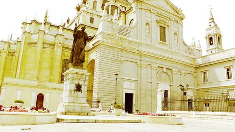Madrid Santa Maria Almudena 07 stylized Stock Video Footage